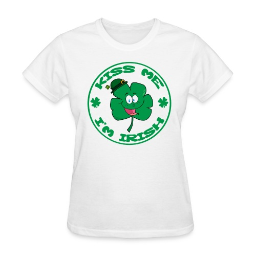 Kiss Me I'm Irish Women's Standard Weight T-Shirt - Women's T-Shirt