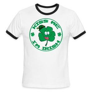 Kiss Me I'm Irish Men's Ringer T-Shirt - Men's Ringer T-Shirt
