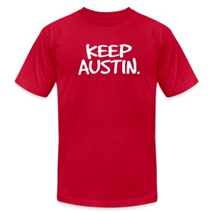 Keep Austin. - Men's T-Shirt by American Apparel