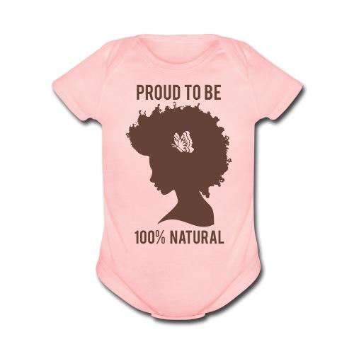 100%  Baby Onsie - Organic Short Sleeve Baby Bodysuit