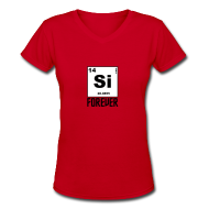 Women's T-Shirts ~ Women's V-Neck T-Shirt ~ Silicon Forever!