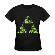 T-Shirts ~ Women's T-Shirt ~ Zelda Items Triforce (Womens)