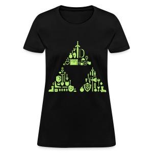 Zelda Items Triforce (Womens) - Women's T-Shirt