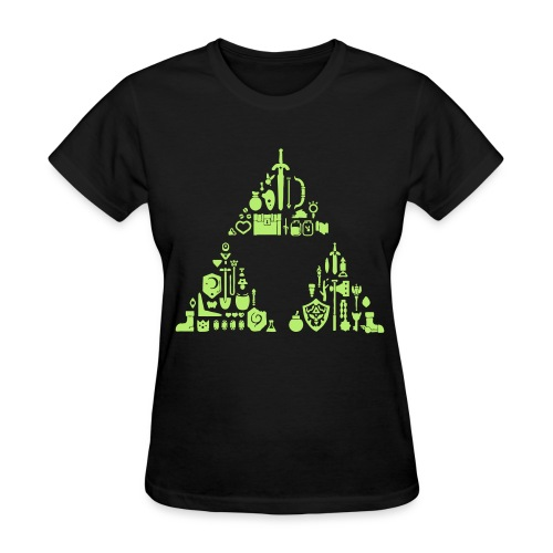 Zelda Items Triforce (Womens) - Women's T-Shirt