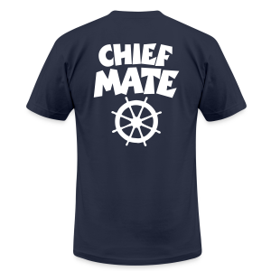 Chief Mate T-Shirt Wheel (White/Back) - Men's T-Shirt by American Apparel