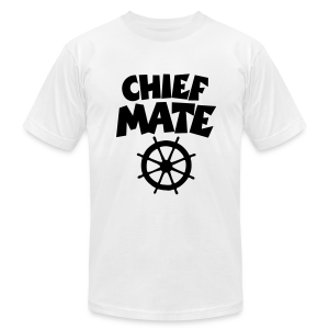 Chief Mate T-Shirt Wheel (White/Front) - Men's T-Shirt by American Apparel