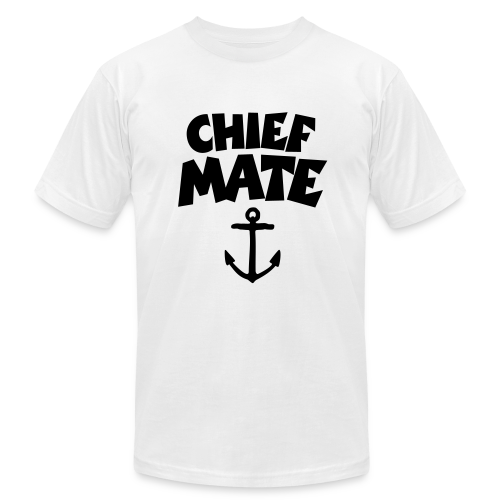 Chief Mate T-Shirt Anchor (White/Front) - Men's Fine Jersey T-Shirt