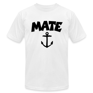 Mate T-Shirt Anchor (White/Front) - Men's T-Shirt by American Apparel