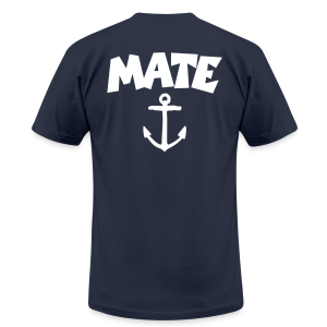 Mate T-Shirt Anchor (Navy/Back) - Men's T-Shirt by American Apparel