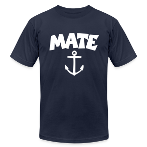 Mate T-Shirt Anchor (Navy/White) - Men's T-Shirt by American Apparel