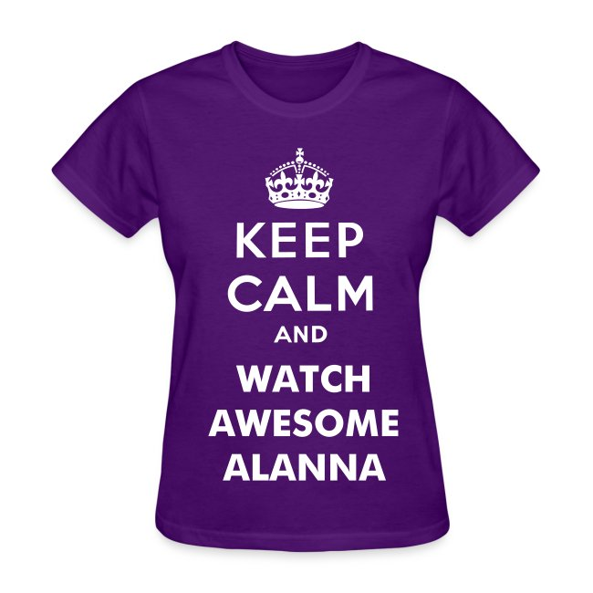 Keep Calm Ladies T-Shirt