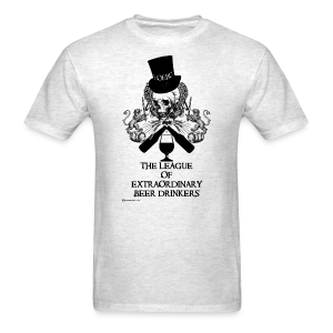 The League of Extraordinary Beer Drinkers Skull Top Hat Men's T-Shirt - Men's T-Shirt