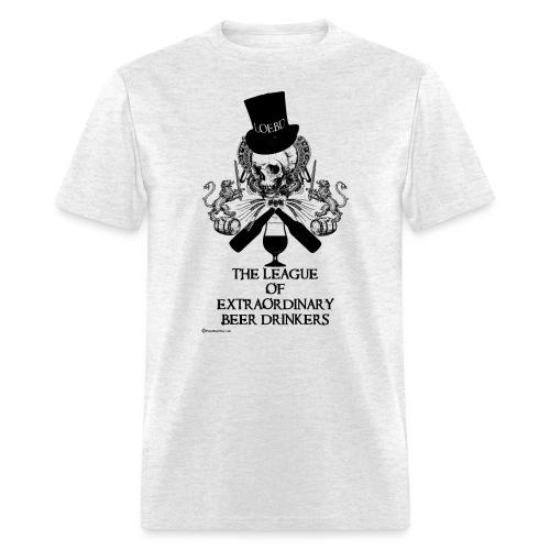 The League of Extraordinary Beer Drinkers Skull Top Hat Men's T-Shirt - Men's T-Shirt