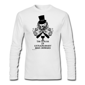 The League of Extraordinary Beer Drinkers Skull Top Hat Men's Long SleeveT-Shirt - Men's Long Sleeve T-Shirt by Next Level