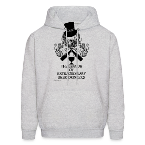 The League of Extraordinary Beer Drinkers Skull Top Hat Men's Hooded Sweatshirt - Men's Hoodie