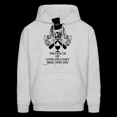The League of Extraordinary Beer Drinkers Skull Top Hat Men's Hooded Sweatshirt - Men's Hoodie