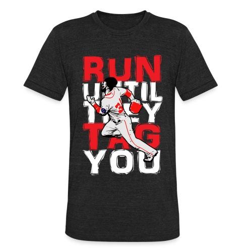 RUN TAG - Men's Triblend Black - Unisex Tri-Blend T-Shirt