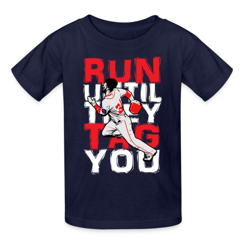 Run Tag Kids' XS - Navy - Kids' T-Shirt