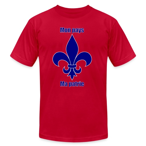 Mon pays, ma patrie (homme) - Men's Fine Jersey T-Shirt