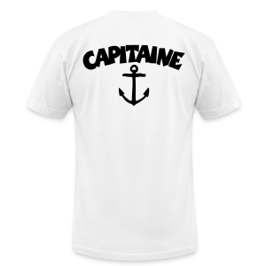 Capitaine t-shirt with anchor (White/Back) - Men's Fine Jersey T-Shirt