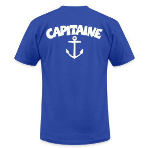 Capitaine t-shirt with anchor (Blue/Back) - Men's T-Shirt by American Apparel