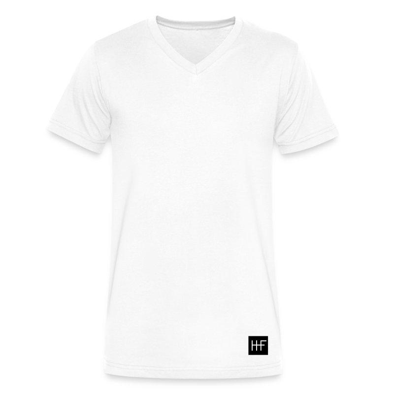 heroic_fashion__authentic_emblem__002__b - Men's V-Neck T-Shirt by Canvas