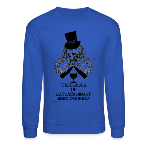The League of Extraordinary Beer Drinkers Skull Top Hat Men's Crewneck Sweatshirt - Crewneck Sweatshirt