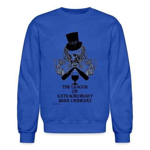 The League of Extraordinary Beer Drinkers Skull Top Hat Men's Crewneck Sweatshirt - Crewneck Sweatshirt