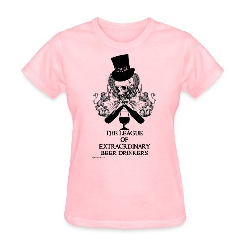 The League of Extraordinary Beer Drinkers Skull Top Hat Women's T-Shirt - Women's T-Shirt