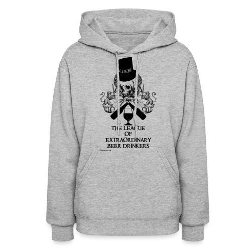 The League of Extraordinary Beer Drinkers Skull Top Hat Women's Hooded Sweatshirt - Women's Hoodie