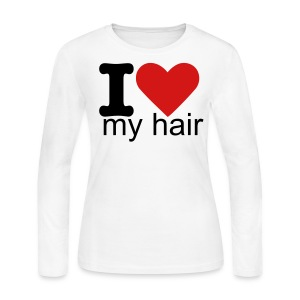 I heart my hair - Women's Long Sleeve Jersey T-Shirt