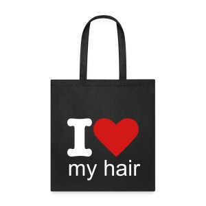 I heart my hair tote bag - Tote Bag