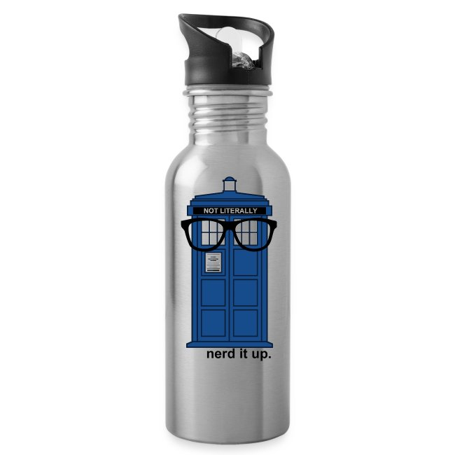 Aluminum Water Bottle - Tardis