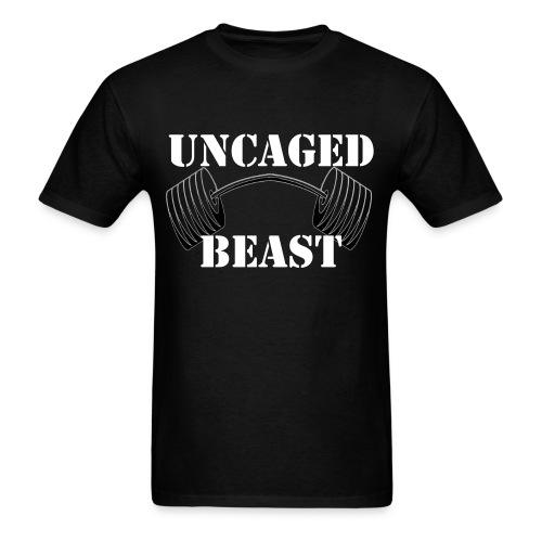 Uncaged Beast Front - Men's T-Shirt