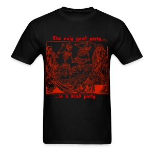 Dead Party (Red) - Standard Weight Men's Shirt - Men's T-Shirt