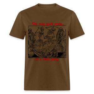 Dead Party (Black) - Standard Weight Men's Shirt - Men's T-Shirt