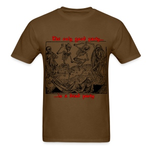 Dead Party (Black) - Standard Weight Men's Shirt - Men's T-Shirt