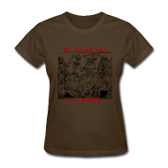 Women's T-Shirts ~ Women's T-Shirt ~ Dead Party (Black) - Standard Weight Women's Shirt