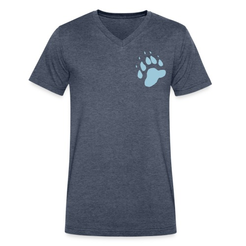 Cubby Paw Tee - Men's V-Neck T-Shirt by Canvas
