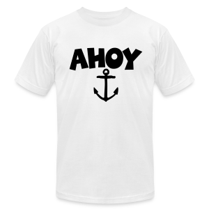 Ahoy Anchor T-Shirt (White/Black) Men - Men's Fine Jersey T-Shirt