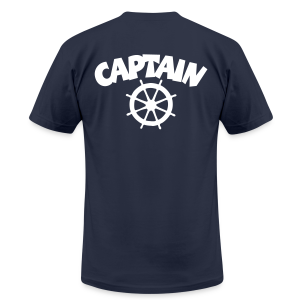 Captain T-Shirt Wheel Men (Navy/Back) - Men's Fine Jersey T-Shirt