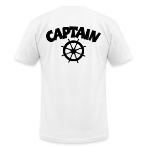 Captain T-Shirt Wheel Men (White/Back) - Men's Fine Jersey T-Shirt