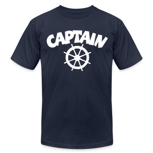 Captain T-Shirt Wheel Men (Navy/Front) - Men's Fine Jersey T-Shirt