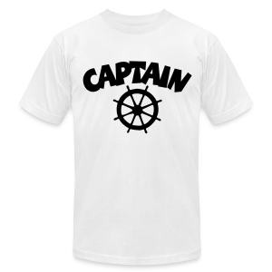 Captain T-Shirt Wheel Men (White/Front) - Men's Fine Jersey T-Shirt