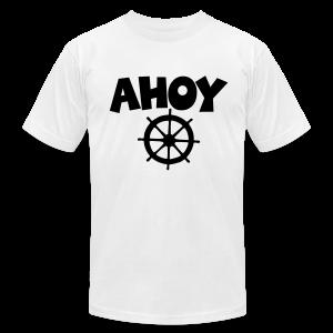 Ahoy T-Shirt Wheel (White/Black) Men - Men's Fine Jersey T-Shirt