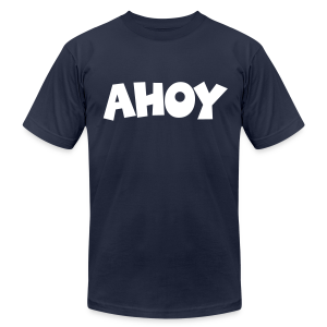 Ahoy T-Shirt (Navy/White) Men - Men's T-Shirt by American Apparel