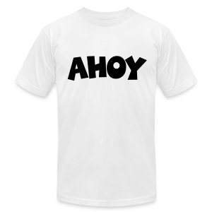 Ahoy T-Shirt (White/Black) Men - Men's Fine Jersey T-Shirt