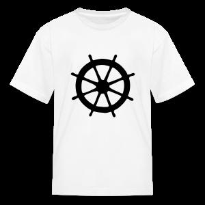 Steering Wheel T-Shirt (White/Black) Kids - Kids' T-Shirt