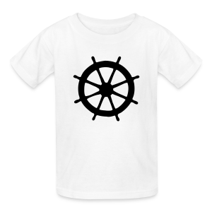 Steering Wheel T-Shirt (White/Black) Kids - Kids' T-Shirt