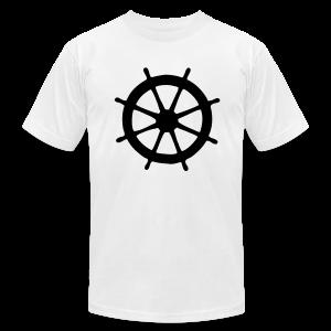 Steering Wheel T-Shirt (White/Black) Men - Men's Fine Jersey T-Shirt
